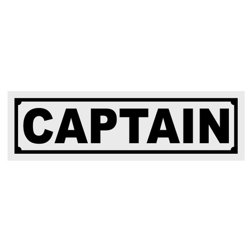 Captain Title Decal