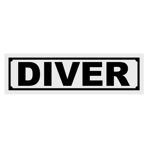 Diver Title Decal