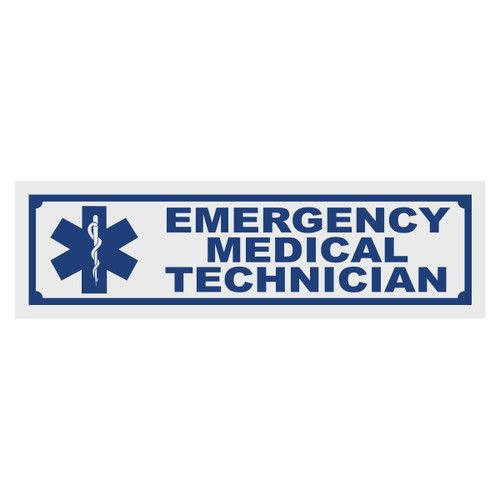 Emergency Medical Technician Title Decal