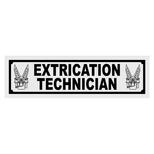 Extrication Technician Title Decal