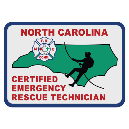 North Carolina Certified Emergency Rescue Technician Decal