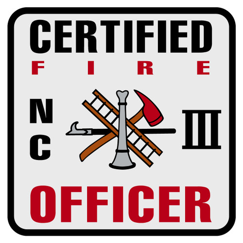 North Carolina Certified Fire Officer Level 3 Decal