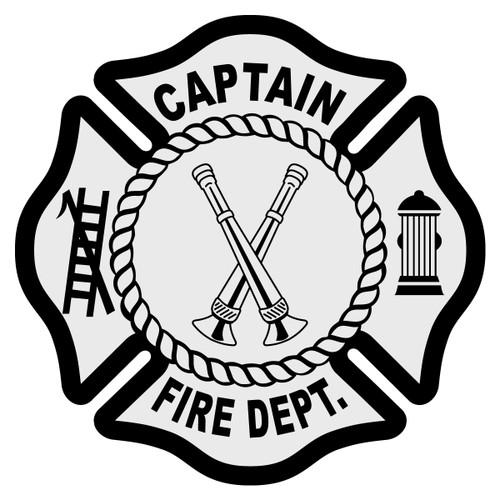 Captain Maltese Cross Decal