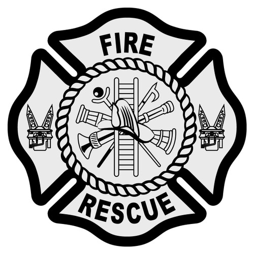 Fire Rescue Maltese Cross Decal