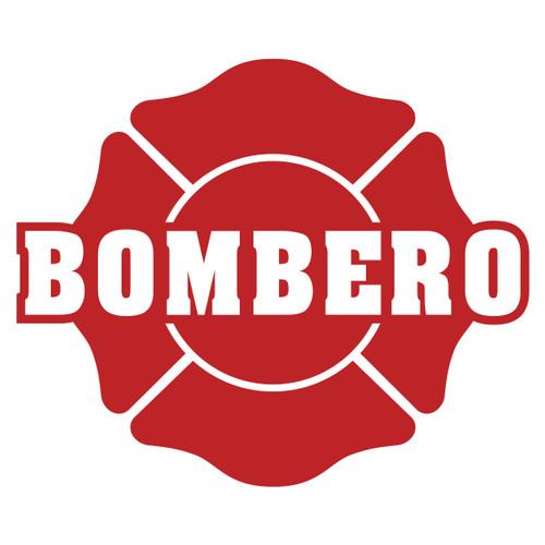 Bombero on Maltese Cross Decal