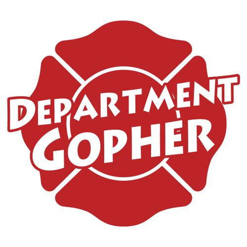 Department Gopher on Maltese Cross Decal