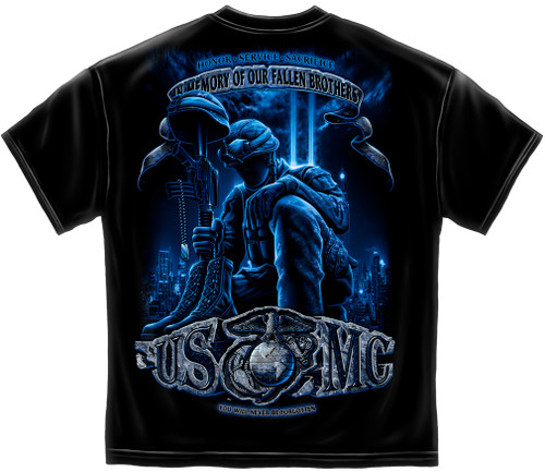 Marine Corps In Memory of Our Fallen Brothers T-Shirt (MM111)