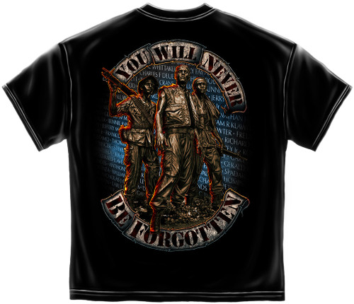 Marine Corps You Will Never Be Forgotten T-Shirt (MM125)
