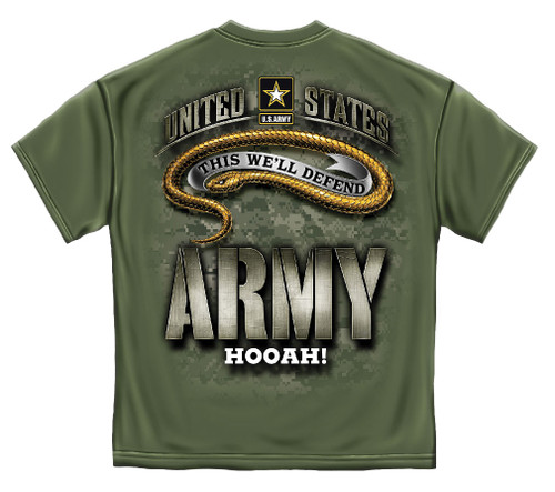 Army Hooah! T-Shirt (MM2155)
