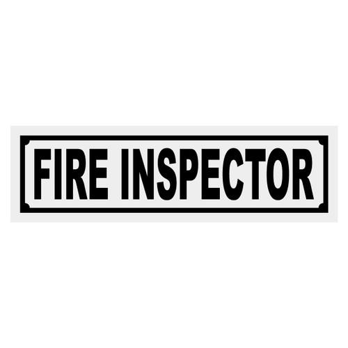Fire Inspector Title Decal
