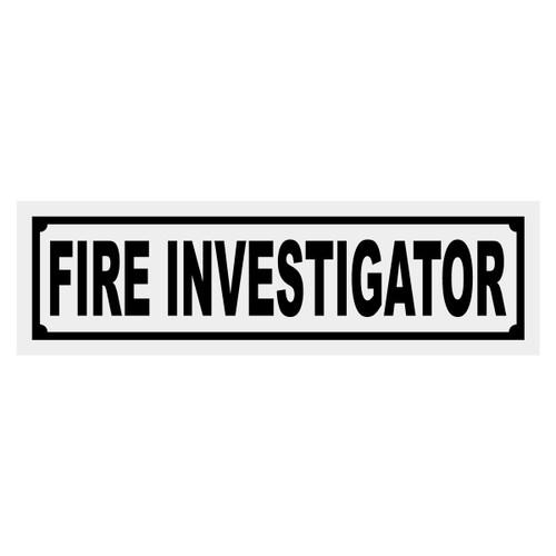 Fire Investigator Title Decal