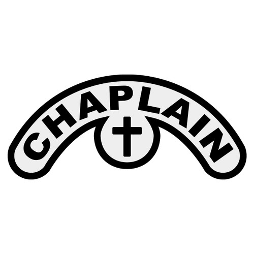 Chaplain with Cross Extended Helmet Crescent