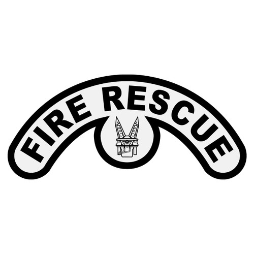 Fire Rescue with Jaws of Life Extended Helmet Crescent
