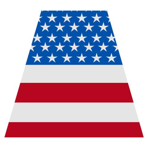 American Flag Helmet Tetra Decal