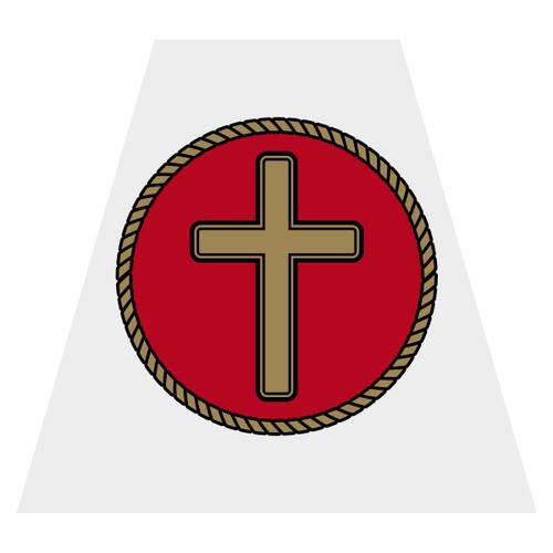 Cross Helmet Tetra Decal