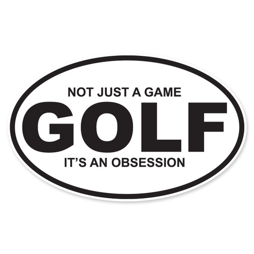 Golf Oval Decal