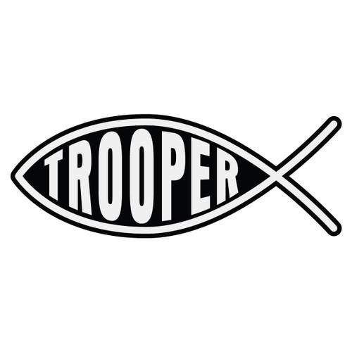 Trooper Christian Fish Decal