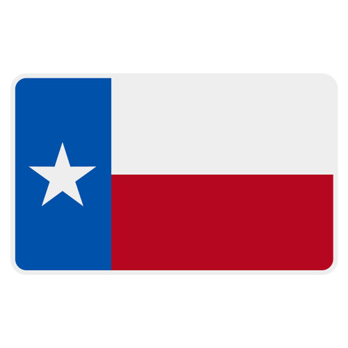 Texas Flag Reflective Decal