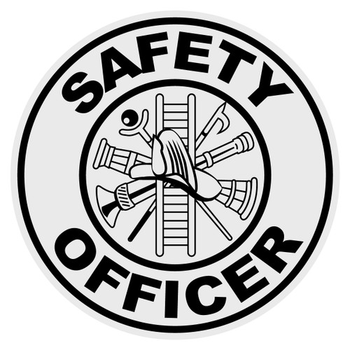 Round Safety Officer Decal