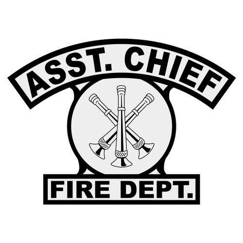 Asst. Chief Shield Rocker Crest Frontal