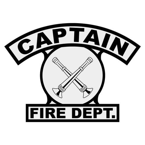 Captain w/ Crossed Bugles Shield Rocker Crest Frontal
