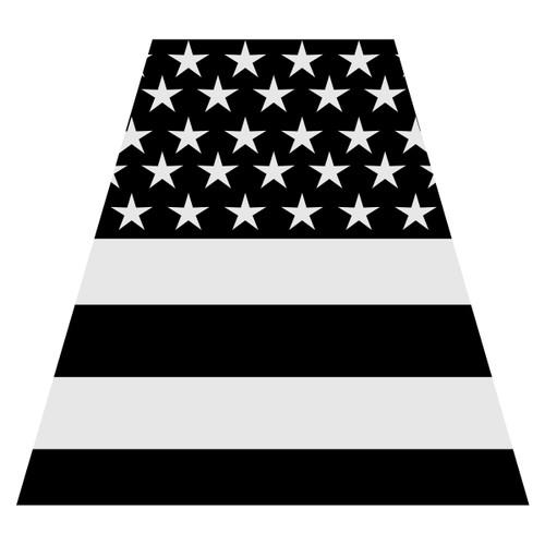 Black American Flag Helmet Tetra Decal