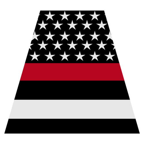 Black American Flag with Redline Helmet Tetra Decal