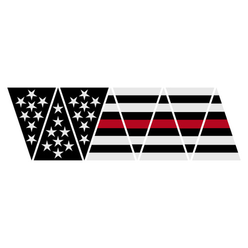 Black American Flag with Redline 1010 Helmet Top