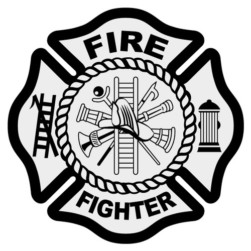 Fire Fighter Maltese Cross Decal