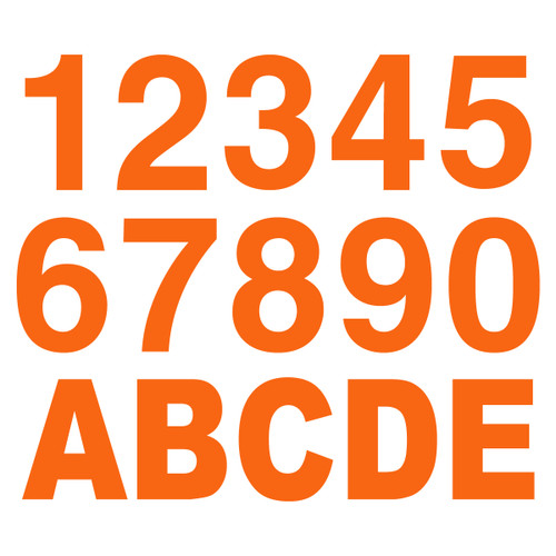 Orange Reflective Letters & Numbers