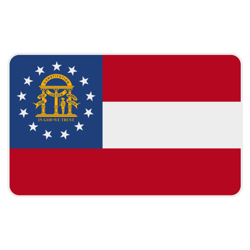 Georgia Flag Reflective Decal