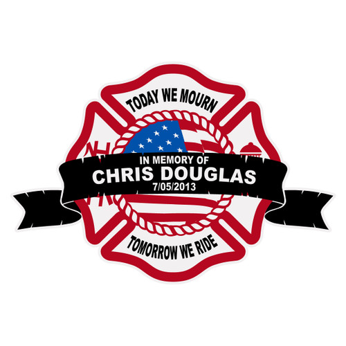 Chris Douglas Memorial Maltese Cross Decal