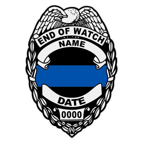 Custom Memorial Badge Decal