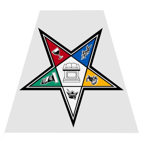Order of Eastern Star Helmet Tetra Decal