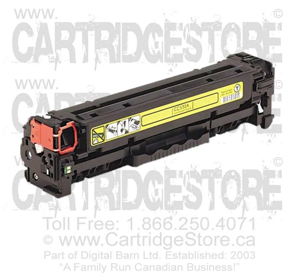 Compatible HP CC532A Toner Cartridge