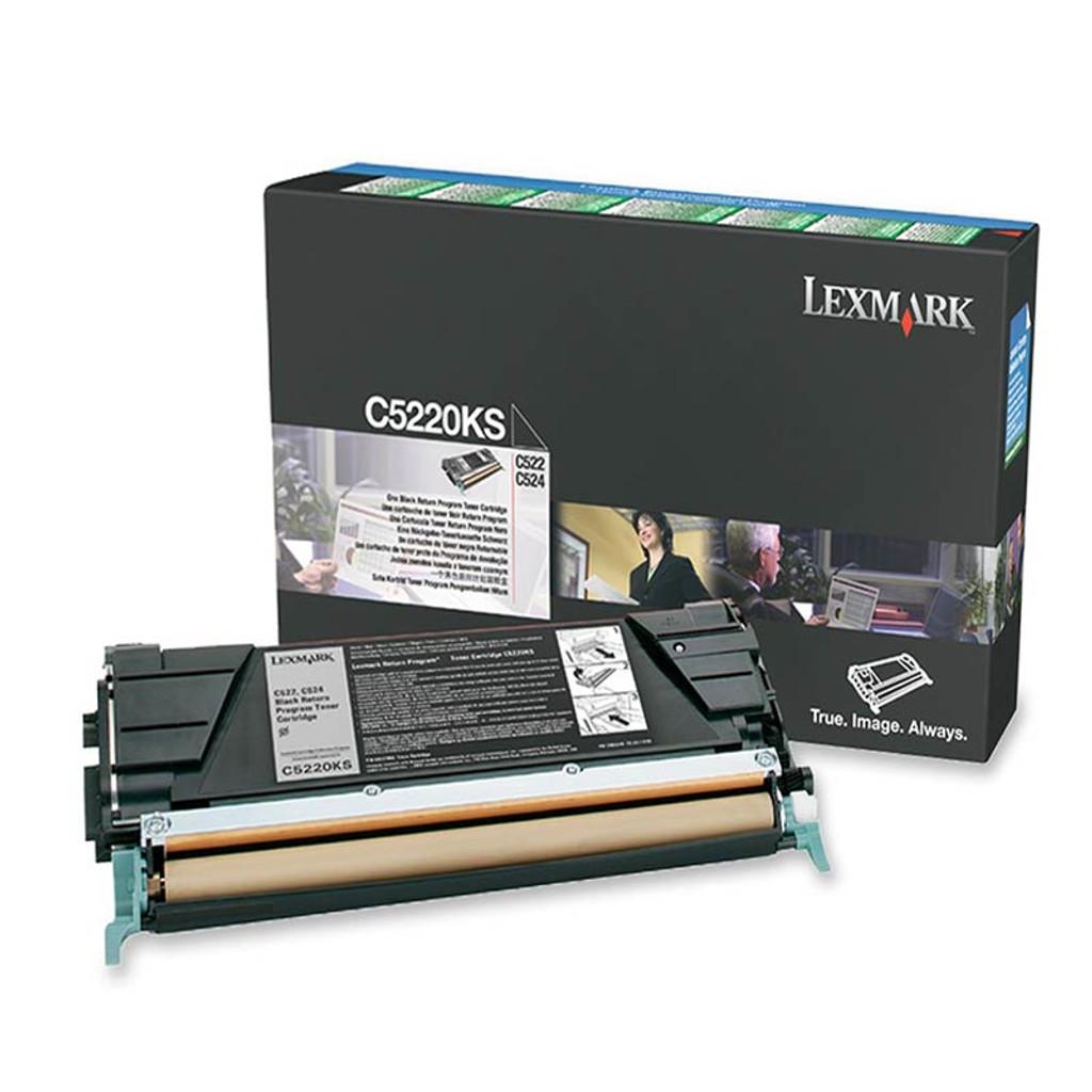OEM Lexmark C522, C524, C530, C532 Black Toner Cartridge - C5220KS