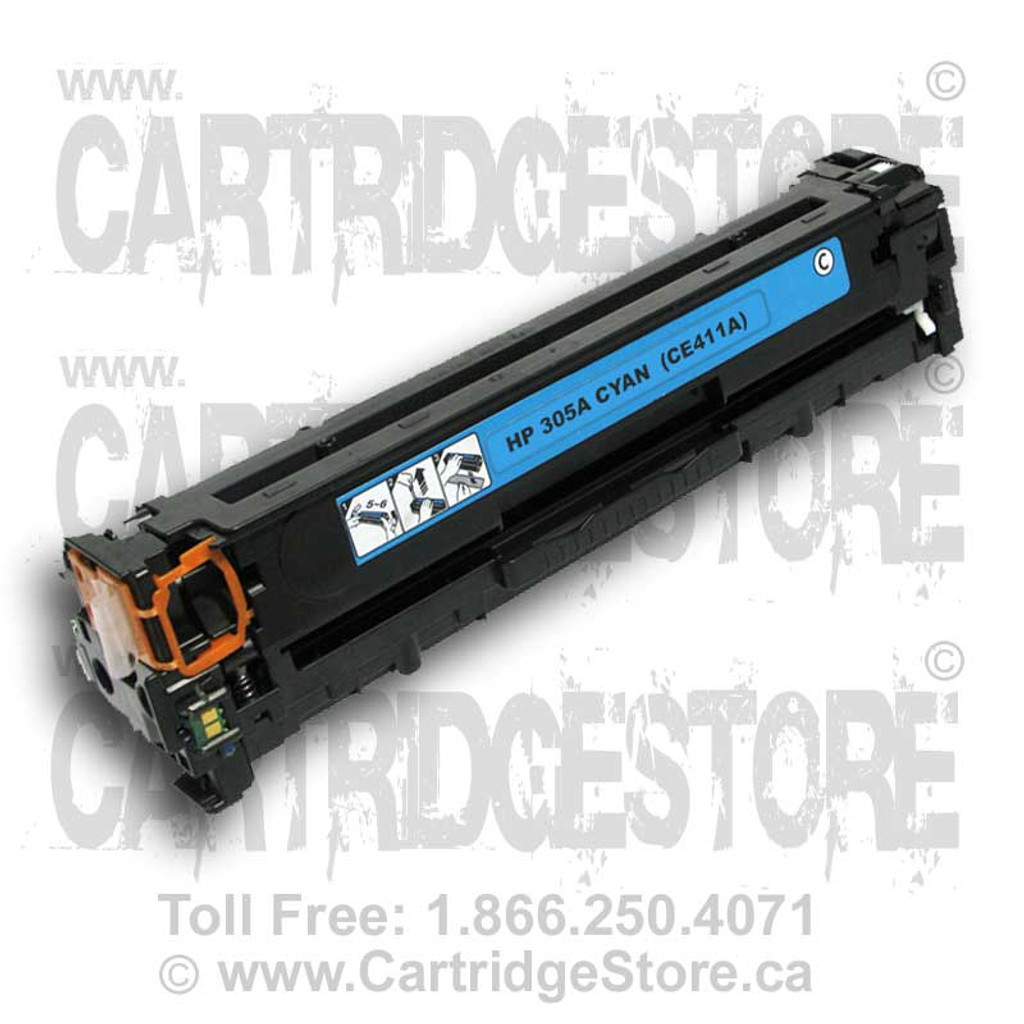 HP 305A Cyan Toner Cartridge, Compatible LaserJet (CE411A)