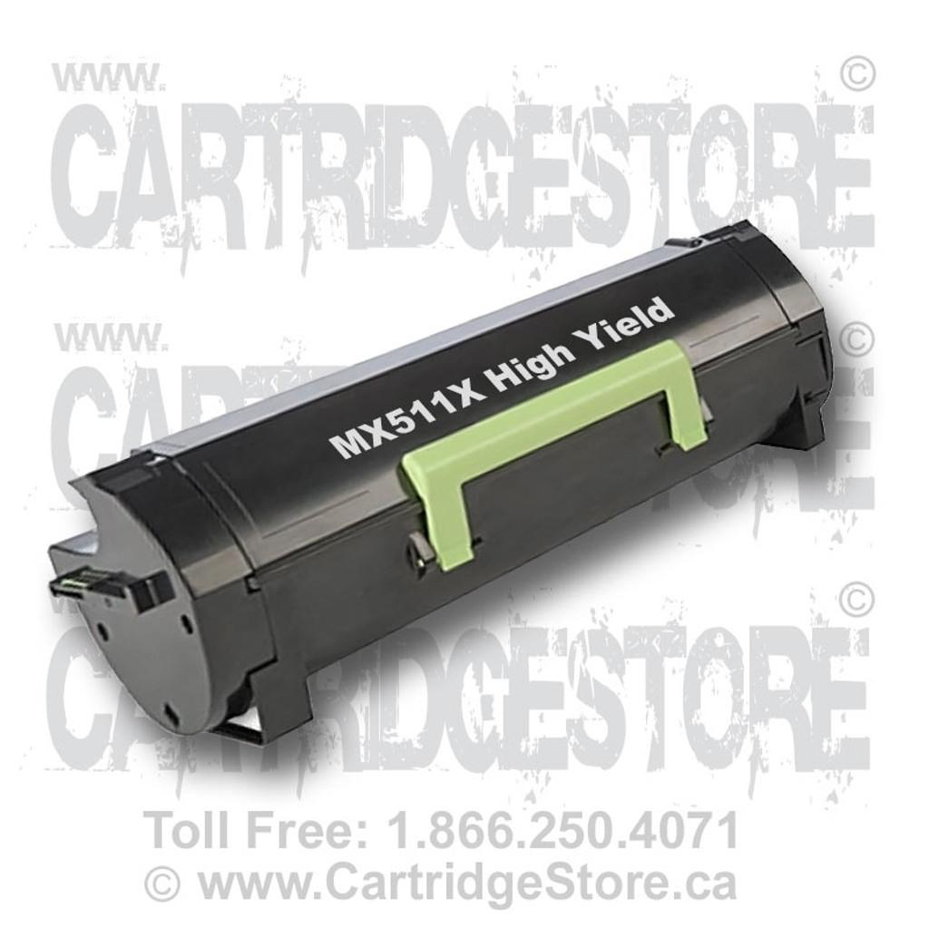 High Yield Lexmark MX511X Remanufactured Toner Cartridge