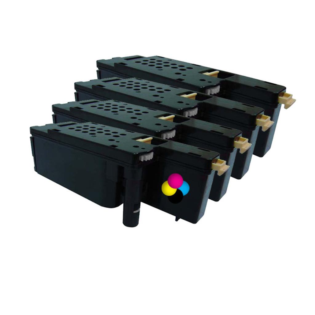 Value Pack Toner for Dell 1250CN Printer series, aftermarket alternative.