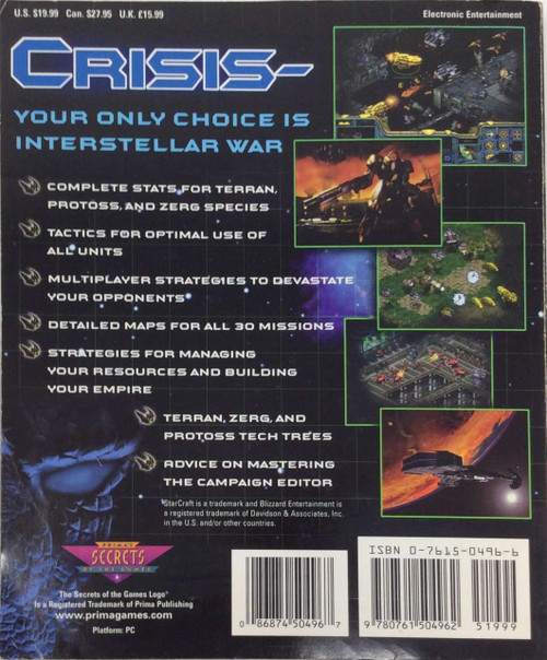 StarCraft: Prima Official Guide (Strategy Guide)