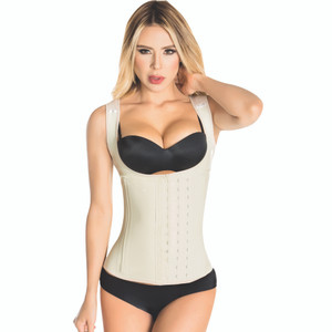 Latex Waist Trainer Cincher Vest Steel Boned Corset - Chaleco Faja Colombiana