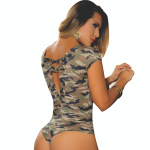 Colombian Body Blouse Shaper with Tummy Control Powernet Camu