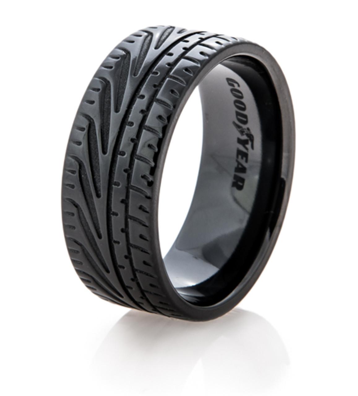 Tire Wedding Rings >> Goodyear Eagle F1 Supercar Tire Wedding Ring Titanium Buzz