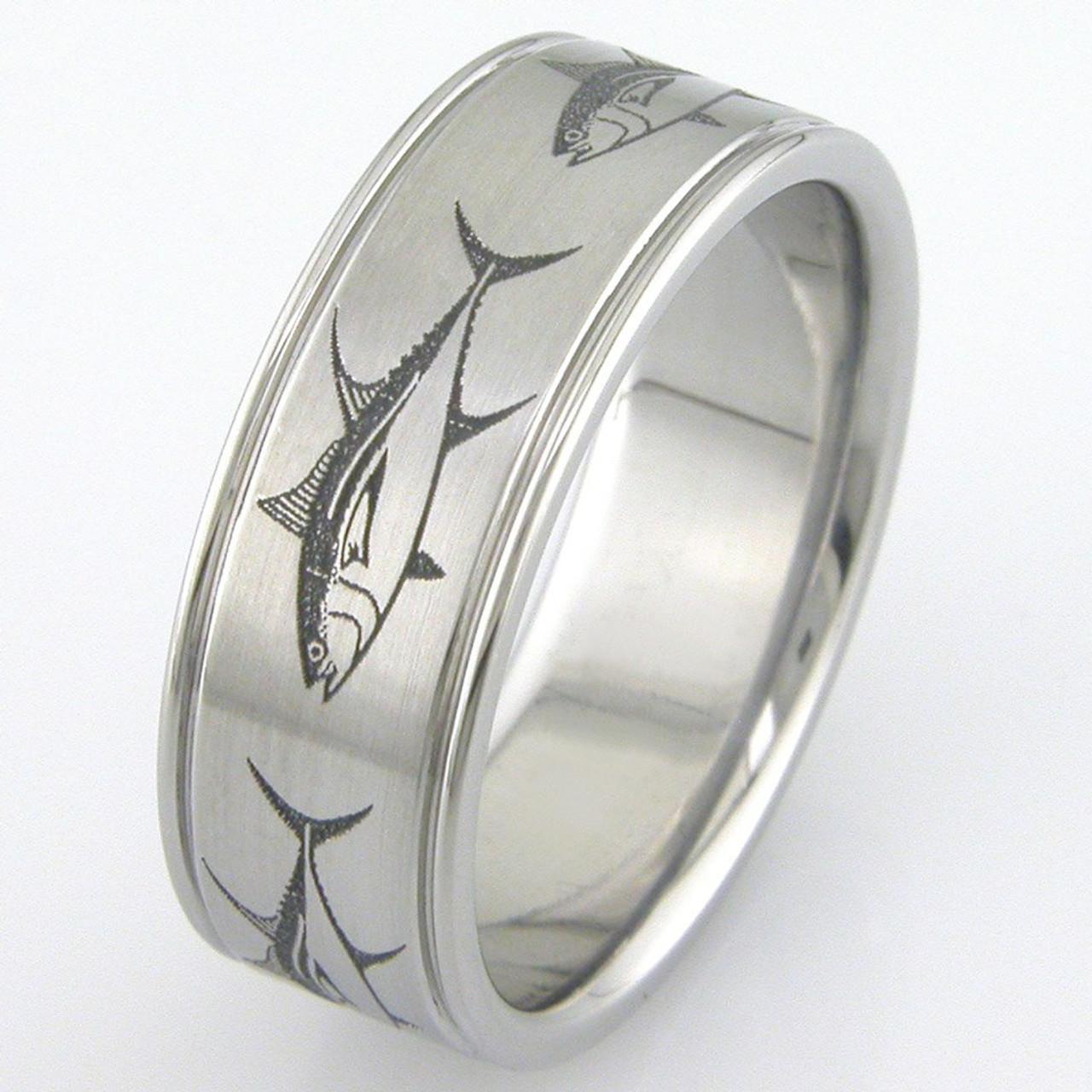 Men S Anium Fish Ring