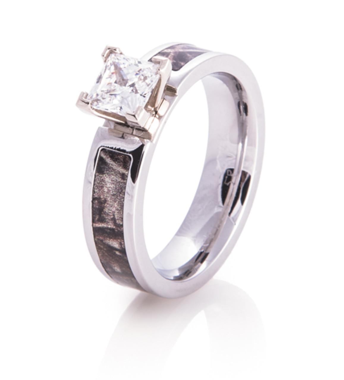 Cobalt Chrome Diamond Camo Ring Camo Engagement Ring