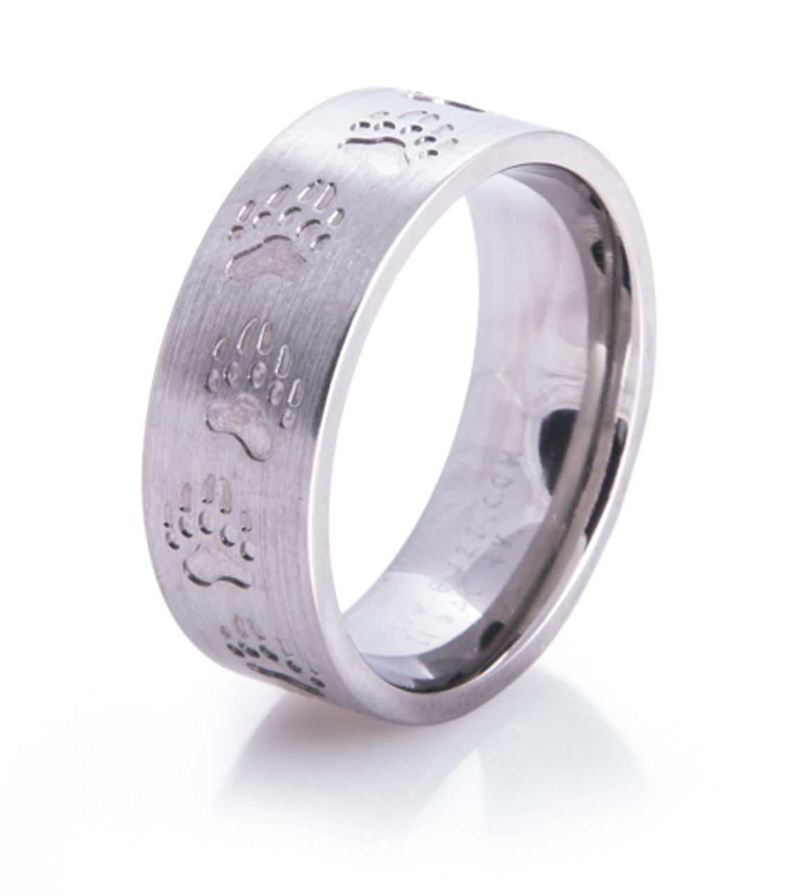 Bear Tracks Wedding Ring Unique Titanium Rings More TitaniumBuzz
