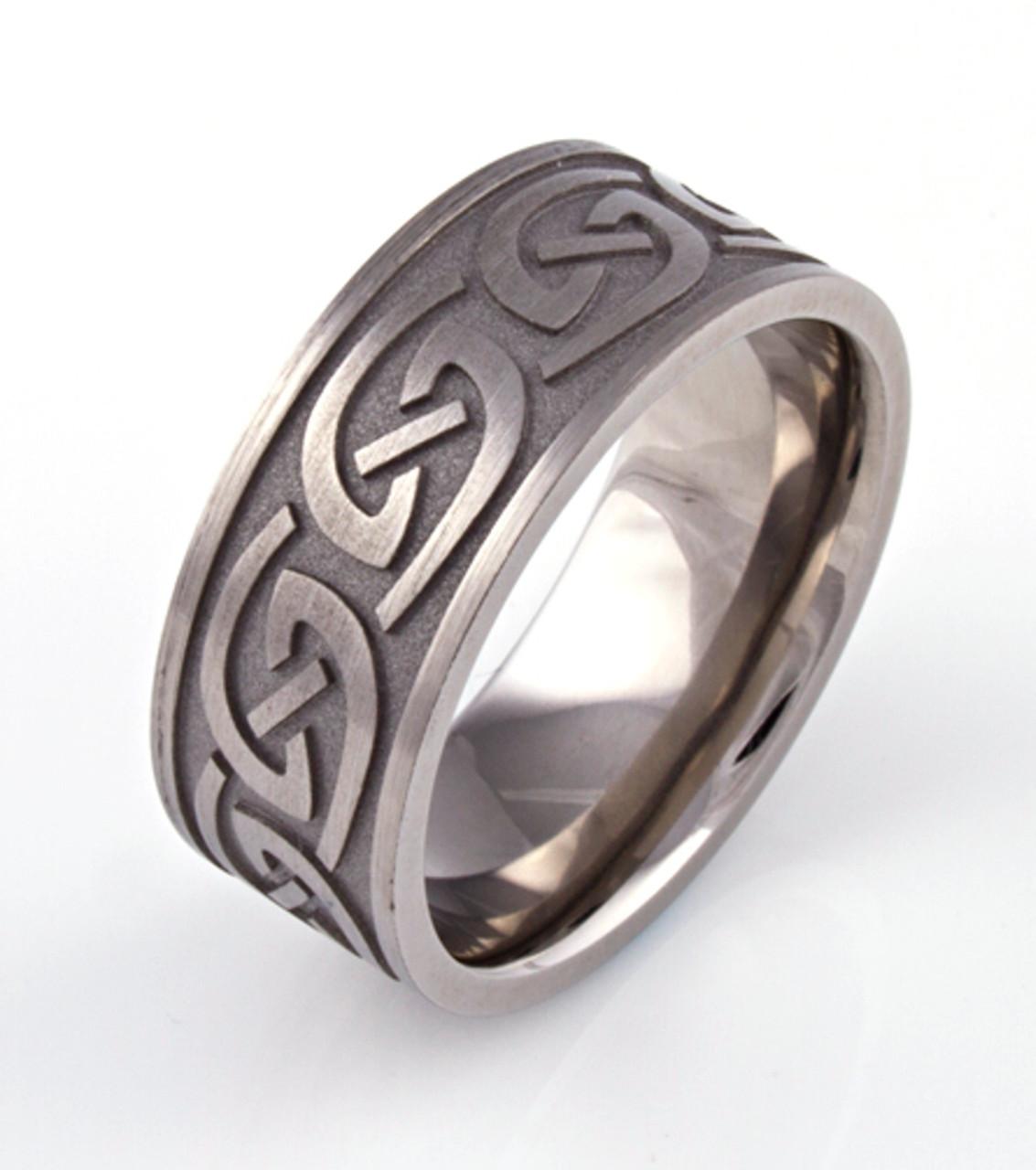 Unique carved wedding bands