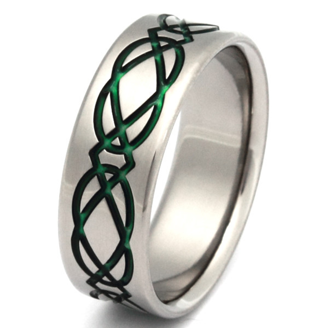 Irish Knot Ring Titanium Dara Knot Rings presented by Titanium