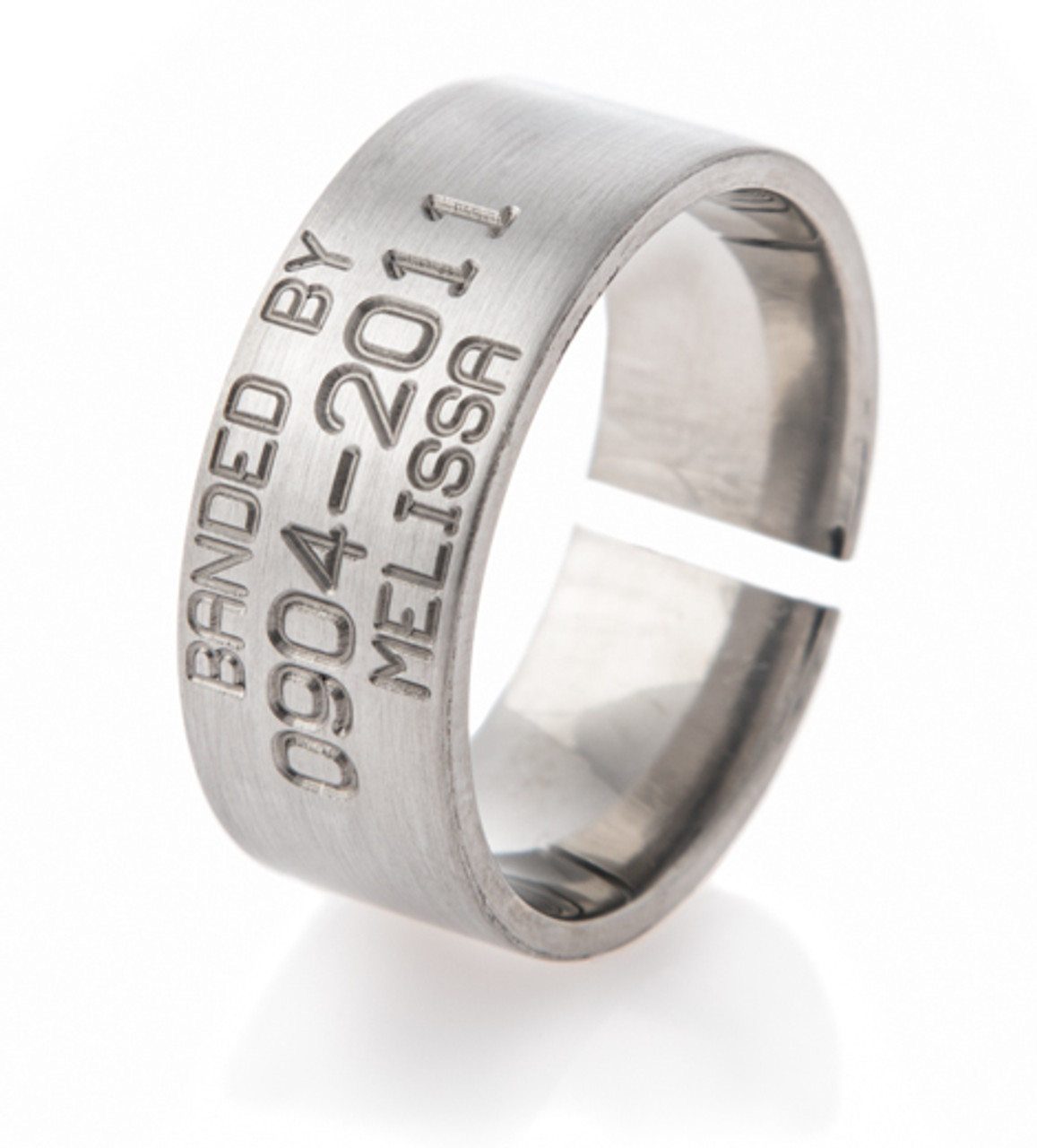 Men S Anium Split Back Duck Band Wedding Ring
