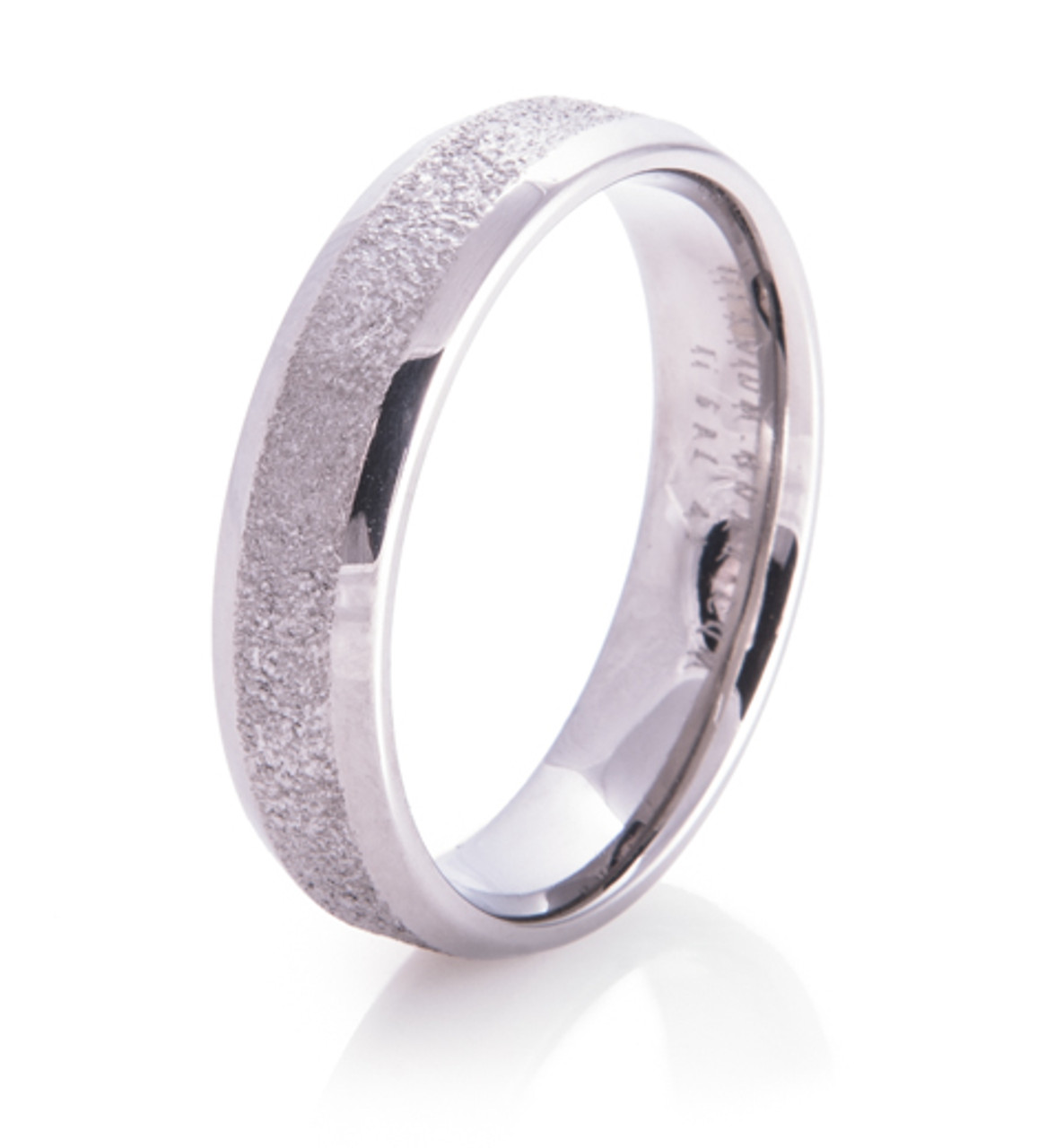 Wedding Band Series: Icy Path Arctic Series Titanium Wedding Ring By Titanium-Buzz